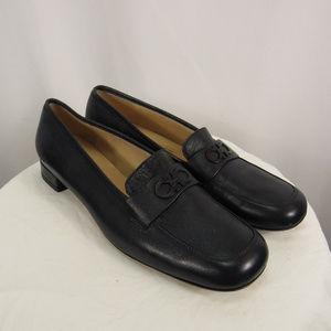 Salvatore Ferragamo Blue Leather Horse Bit Shoes